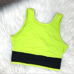 Lululemon neon crop top